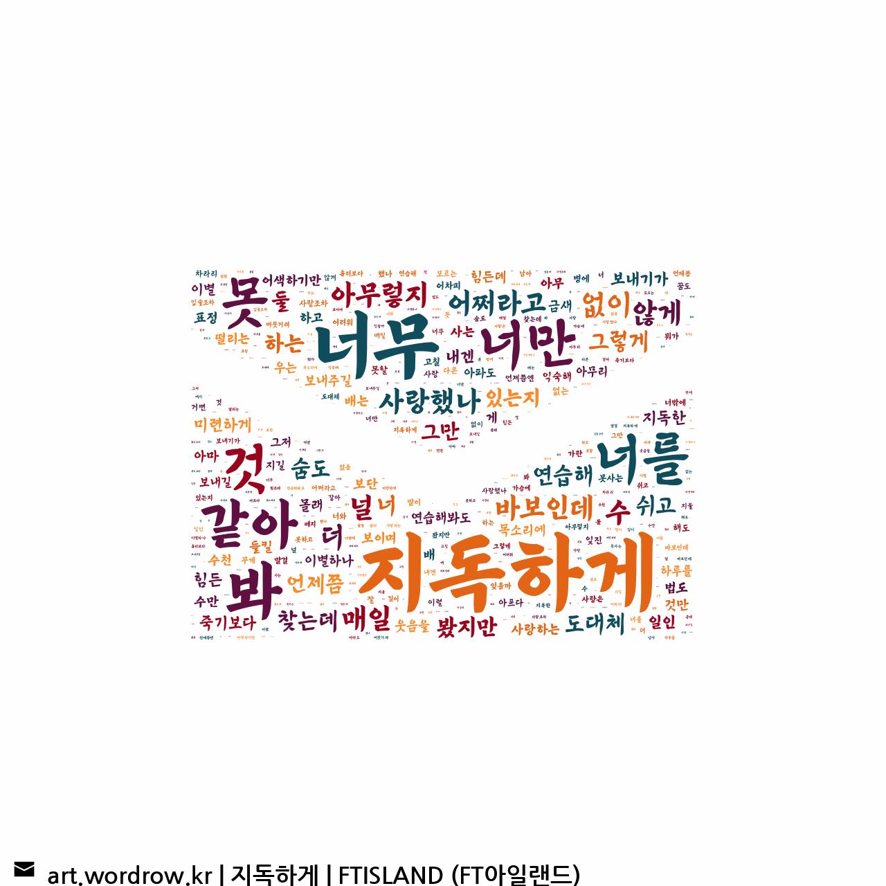 워드 아트: 지독하게 [FTISLAND (FT아일랜드)]-22